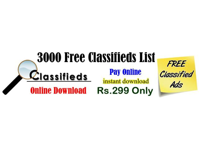 Free Classifieds List 2020